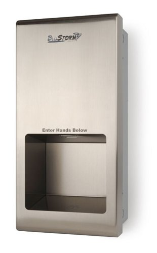 Blue Storm Hand Dryer - Recessed