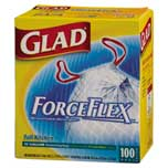 Glad Drawstring bags with ForceFlex - 100 count