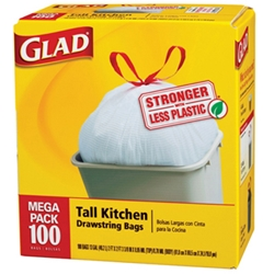 Glad Drawstring bags - 100 count