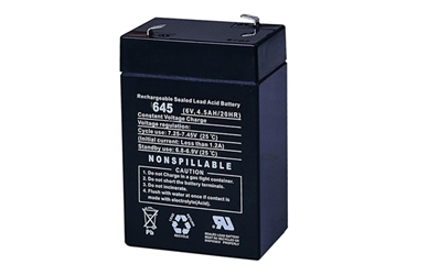 Battery 6 volt 4.5 amp