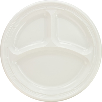 Plate - Plastic 3 compartment
