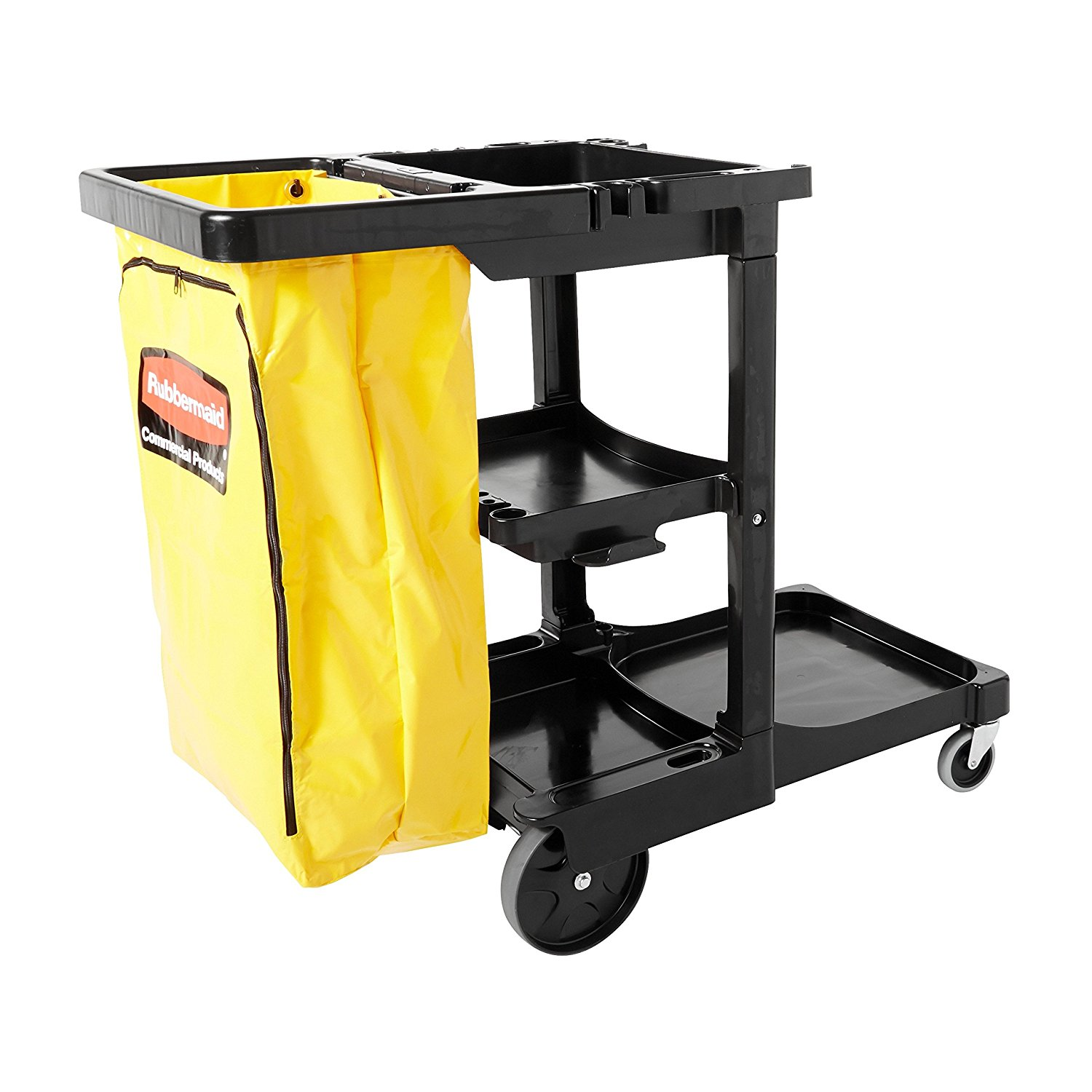 Janitor Cart - Black Rubbermaid