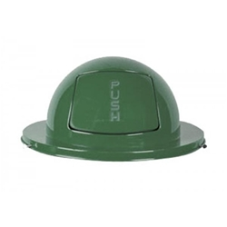 Dome Top for Rubbermaid Streetbasket - Green